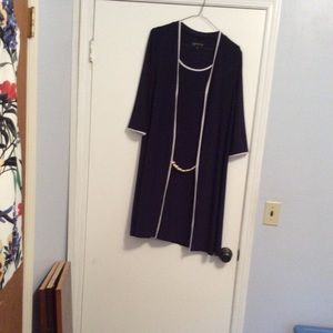 Faux Jacket dress with long 3/4 Sleeve Jacket